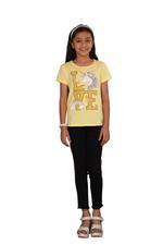 Genius Girls Printed T-shirt,Butter Lemon SIMGS20GEC013