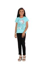 Genius Girls Printed T-shirt,Light Blue SIMGS20GEC014