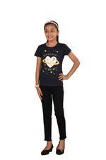 Genius Girls Printed T-shirt,Navy Blue SIMGS20GEC018