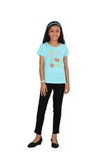 Genius Girls Printed T-shirt,Light Blue SIMGS20GEC019