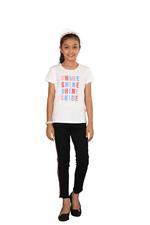 Genius Girls Printed T-shirt,White SIMGS20GEC023