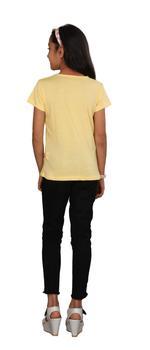 Genius Girls Printed T-shirt,Butter Lemon SIMGS20GEC030