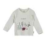 Chiquitos Baby Boys Full Sleeves T-shirt , White - BAGCB201
