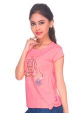 Disney Princess Girls Knit T-Shirt, Pink-HWGLPR88
