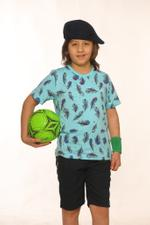 Nexgen Juniors Boys T-Shirt , Turquoise - SSG17165