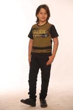 Nexgen Juniors Boys T-Shirt , Black/Khaki - SSG17157
