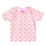 Smart Baby Baby Girls Short Sleeves Printed T-shirt,Pink-BIGCG119BPNK