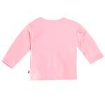 Smart Baby Baby Girls Full Sleeves Button Closure Plain T-shirt,Pink-BIGCG119EPNK