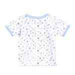 Smart Baby Baby Boys Short Sleeves Printed T-shirts,White/Blue-BIGCG219BBLU
