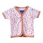 Smart Baby Baby Boys Short Sleeves Button Closure Printed T-shirts,White/Beige-BIGCG219CBEG