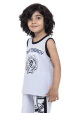 Nexgen Juniors Boys Printed Vest , Grey - VCGSS21123